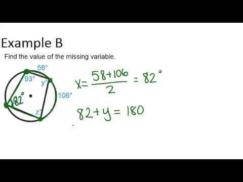 Inscribed Quadrilaterals In Circles Examples Geometry
