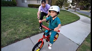Tydus Learns To RIDE A BIKE!! **First Time**