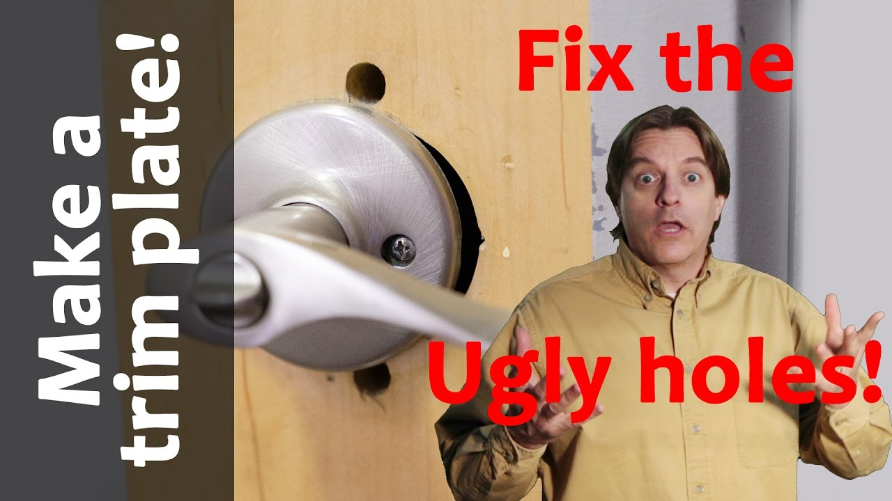 How To Quickly Make A Simple Door Knob Trim Plate From Left Over Materials