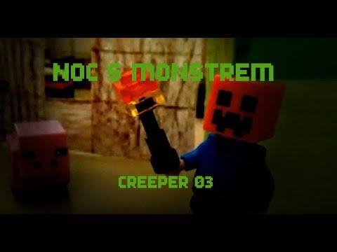 Noc s monstrem - lego minecraft HOROR Stop Motion.