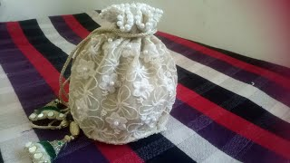 potli purse/ very attractive and easy method / in hindi