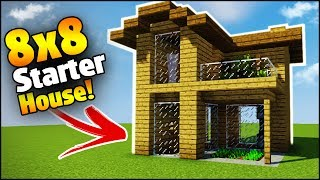 Minecraft: 8X8 Starter House Tutorial - How to Build a House in Minecraft