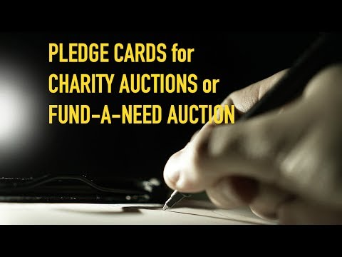 Fundraising Ideas for Nonprofits | Fund-A-Need Auction Pledge Cards