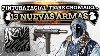 13 NUEVAS ARMAS, Pinturas Faciales, Camuflaje Tigre Cromado y MÁS descubiertos en COD WWII