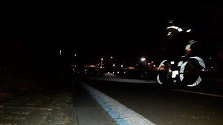 반사테이프의 야간 시인성