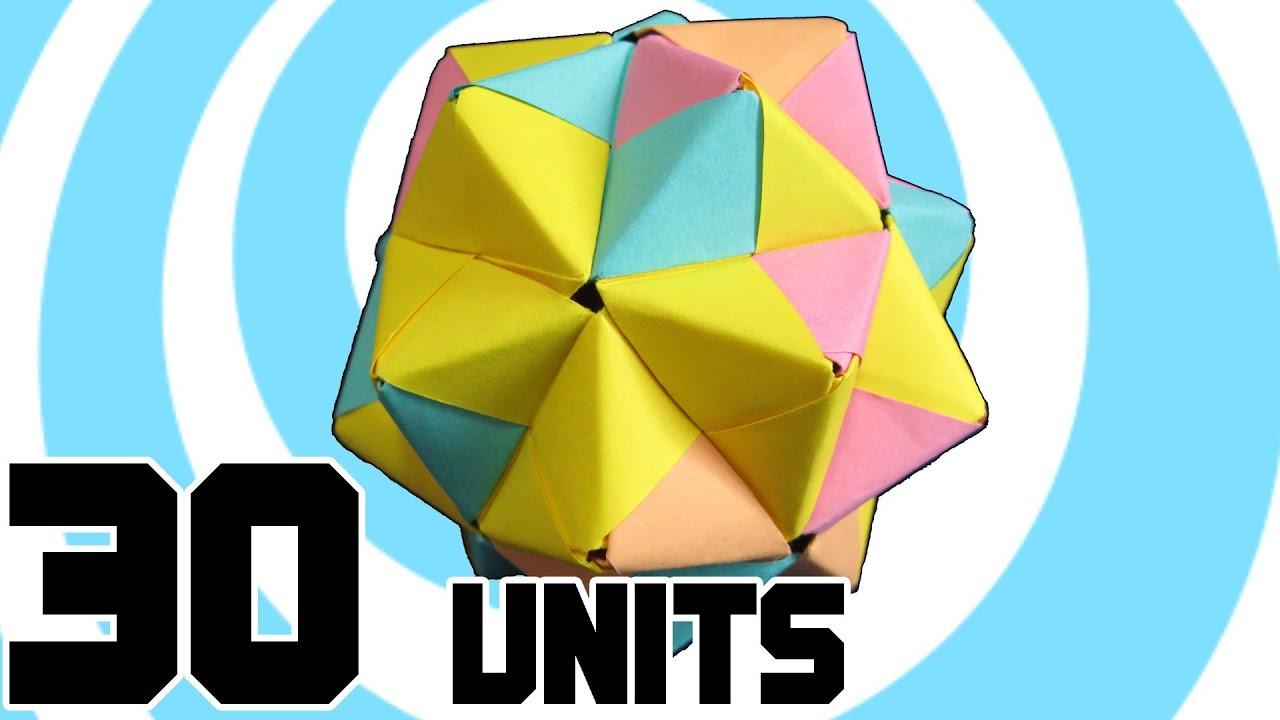 Soccer Ball Modular Origami Diagram 240v Single Phase Wiring Icosahedron 30 Sonobe Units Youtube