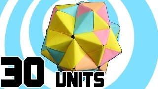 Modular Origami Icosahedron 30 Sonobe Units