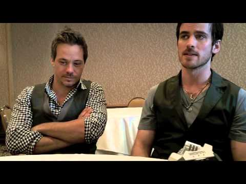 Colin O'Donoghue and Michael RaymondJames Talk ONCE UPON A TIME at San Diego Comic Con 2013