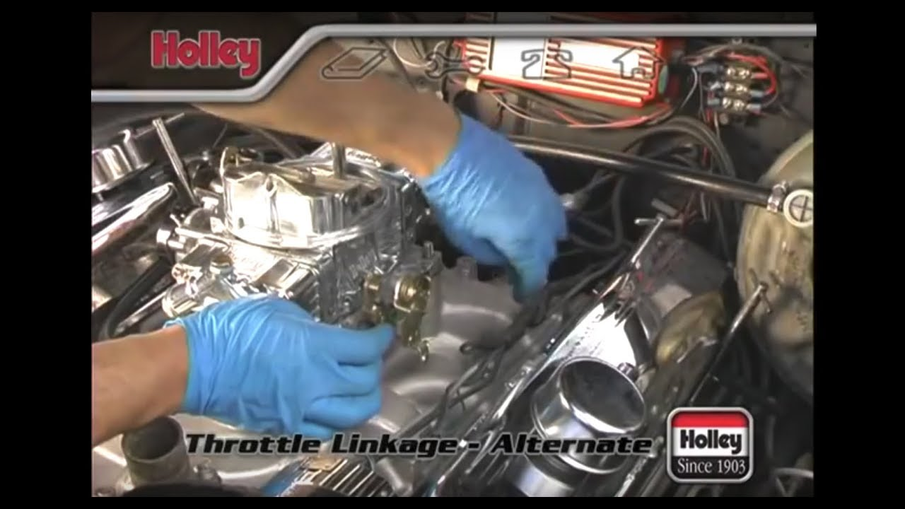 attaching custom or specialized throttle linkage to a holley carb [ 1280 x 720 Pixel ]