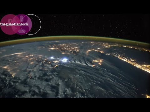 Lightning storms from space - timelapse video