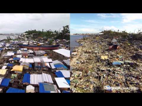 Typhoon Haiyan: Aerial footage shows how Tacloban has recovered  6 months on