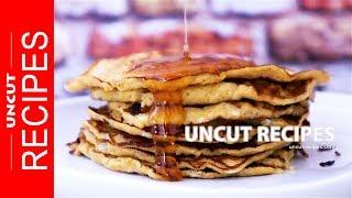 ☑️ Banana Pancake Recipe ( Traditional American Banana Pancakes ) | Uncut Recipes