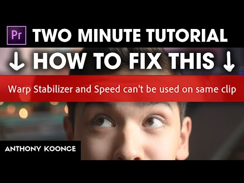 How To Use Warp Stabilizer And Speed On The Same Clip! (Premiere Pro 2020)