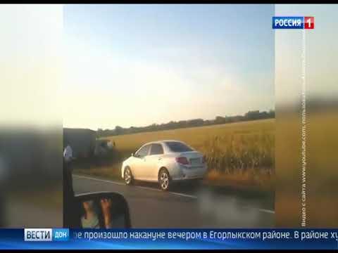 В Егорлыкском районе столкнулись два большегруза