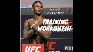 UFC Israel Adesanya training workout highlights