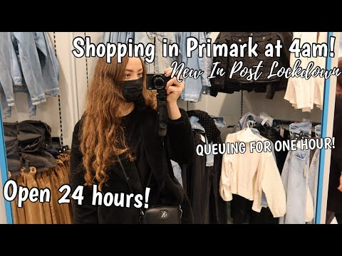 COME SHOPPING WITH ME IN PRIMARK AT 4AM   What's NEW IN Store   Open for 24 Hours!!