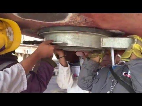 Pressure testing of Bottom plugs of ship