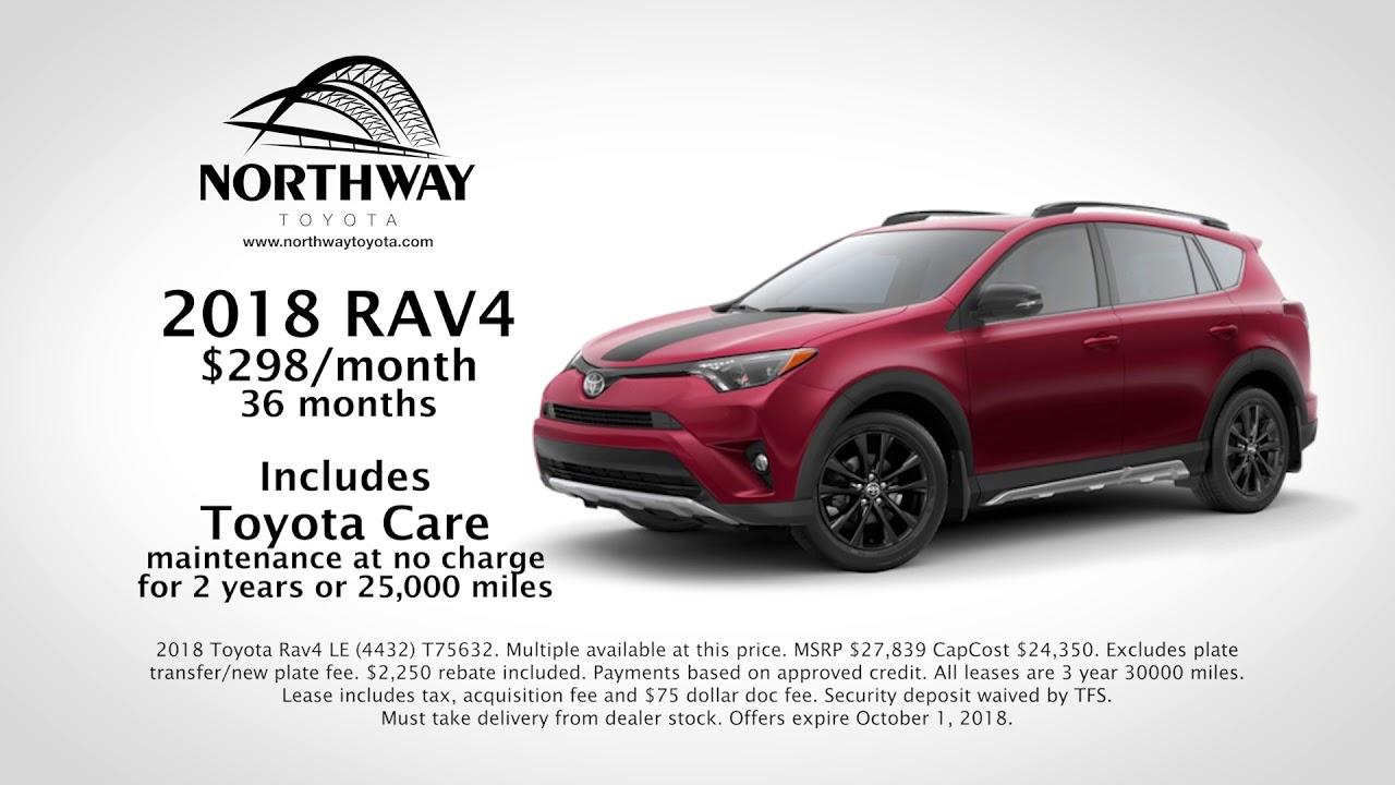 New 2018 RAV4   $298/Month   Northway Toyota Albany