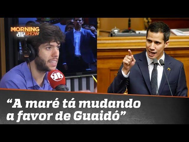"""Caio Coppolla: """"A maré tá mudando para favorecer o Guaidó e Maduro vai caindo de podre"""""""