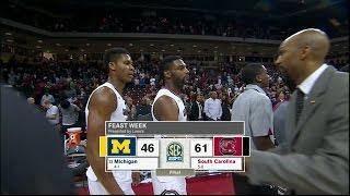 HIGHLIGHTS: Men's Basketball Defeats Michigan 61-46 (11/23/16)