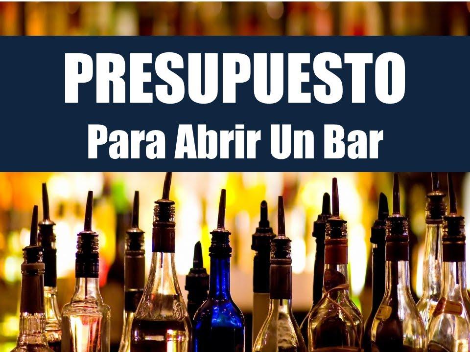 Presupuesto Para Abrir Un Bar: Guia Rapida - YouTube