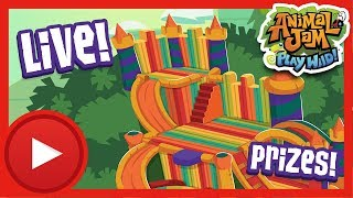 Bounce House Mad House Live Stream!   Animal Jam - Play Wild