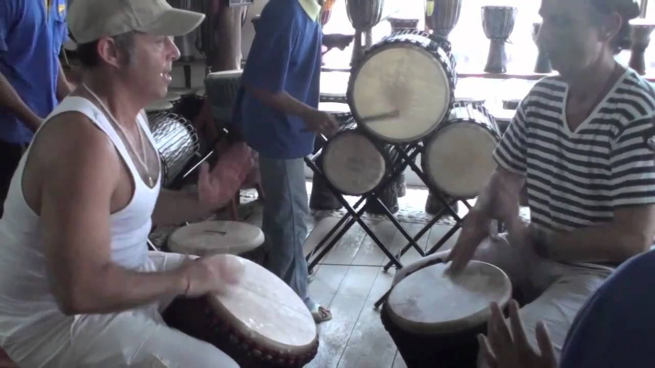 Djembe Jam in Ubud at Bali Treasures with Michael Pluznick