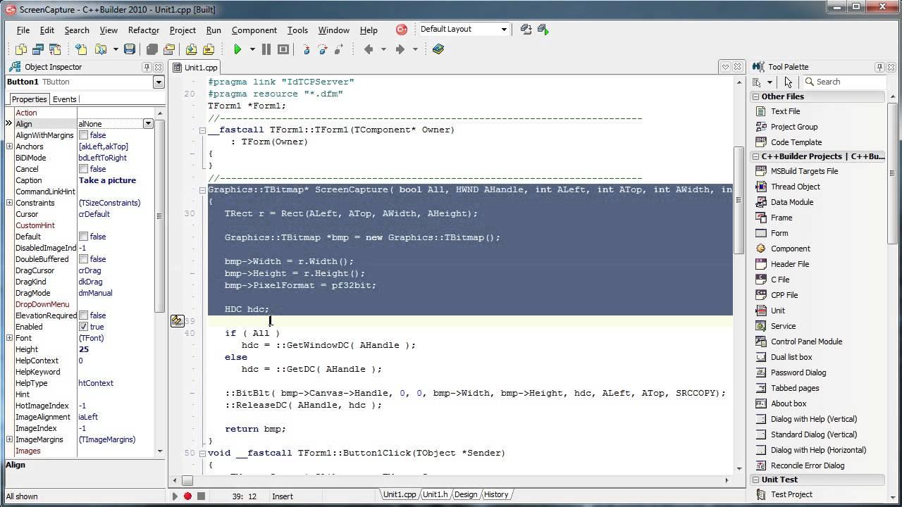 C++ Builder - Indy TCP (Screenshot)