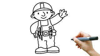 How to draw Bob the Builder  | Step by Step | Easy drawing | Drawing for kids |