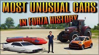 THE MOST UNUSUAL & WEIRDEST CARS in Forza History | FM2 till FH4