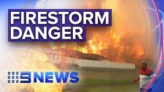 Extreme bushfire warnings for NSW, QLD | Nine News Australia