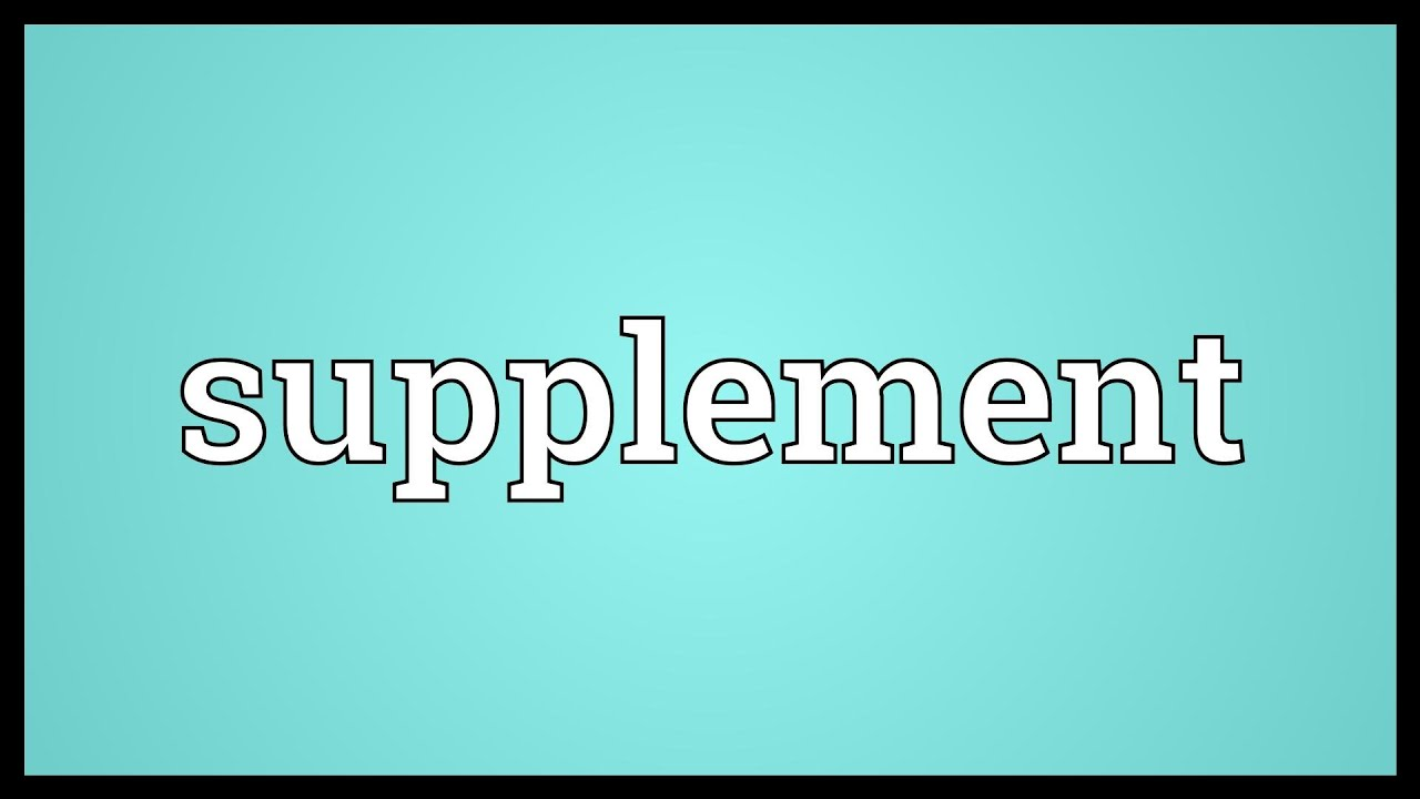 Supplement Meaning   YouTube