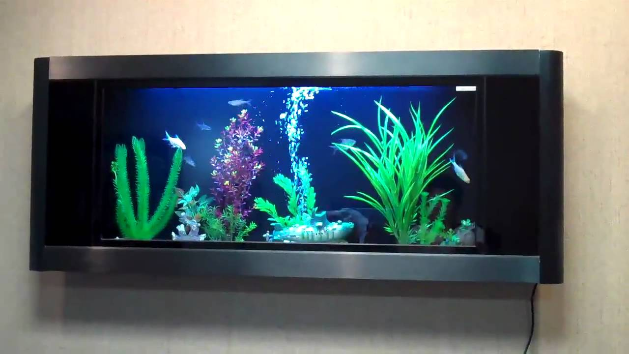 Wall Mounted Fish Tank Home Decor