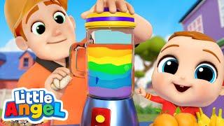 Juice Song | Learn Colors | Little Angel Kids Songs & Nursery Rhymes