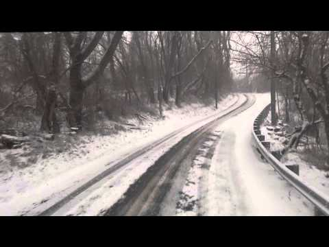Driving Baltimore Maryland in the Snow
