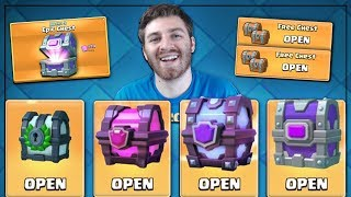 OPENING ALL FREE CHESTS & NEW OFFERS!   Clash Royale   SUPER MAGICAL & EPIC CHEST OPENINGS!