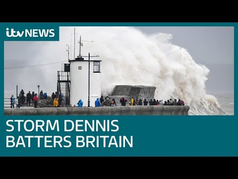 Storm Dennis: Weather Warning As Storm Hits The UK | ITV News
