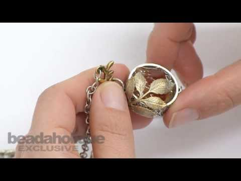 How to Make a Faux Druzy Pendant with Mica Powder and 2-Part Resin by Becky Nunn