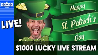 🍀LUCKY LIVE STREAM ✅ Feeling GREEN 💚$1000 at San Manuel Casino