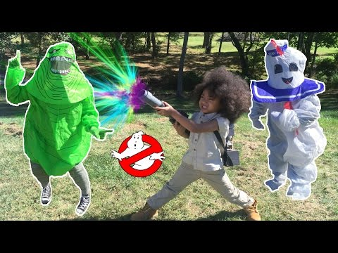 Slimer and MarshMallow Man Ghost Attacks Noah