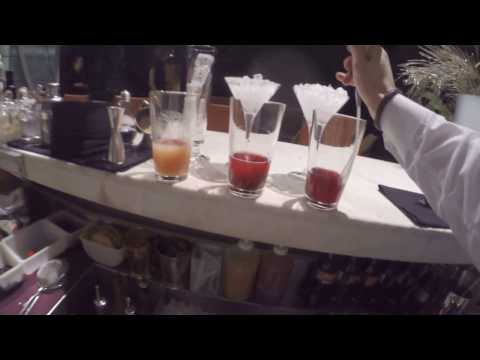 Behind the bar at City Space bar Moscow