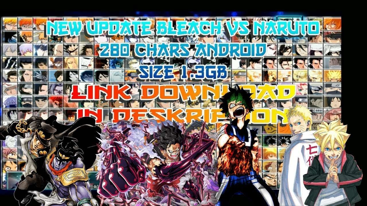 Bleach Vs Naruto V3 3 Mod Update 280 Chars 2019 Android Pc Download Youtube