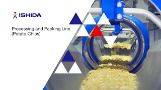 Processing and packing line for potato chips