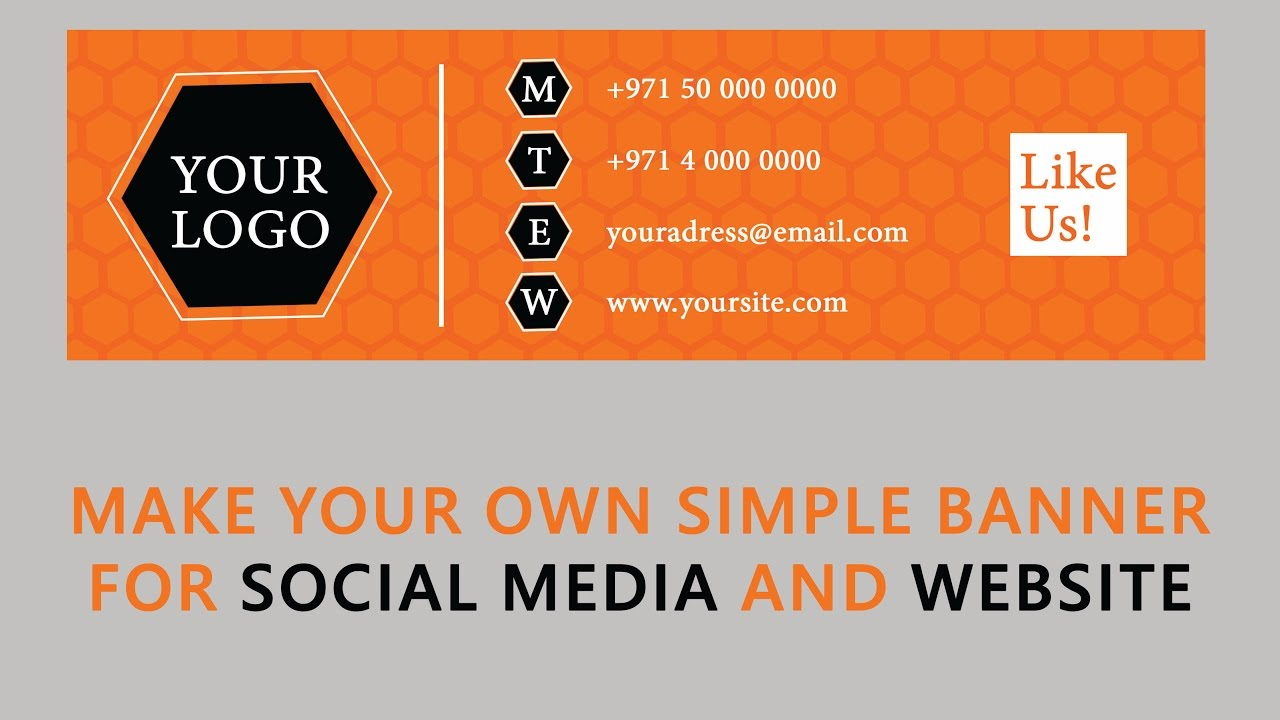 photoshop tutorial  banner design in photoshop  for social media