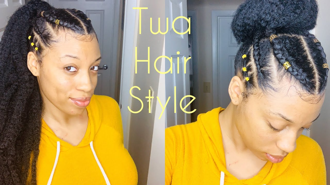 Natural Hair Awkward Length Natural Style Rubberband Hairstyle
