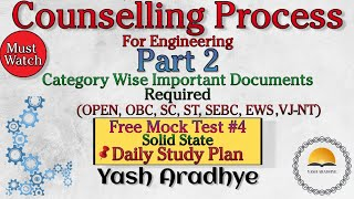 Mhtcet counselling process part 02 | List of documents for engineering | Must watch | mht cet 2020