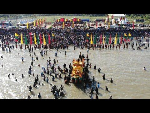 200 Penari Pukau Ribuan Warga Serta Detik-Detik Penurunan Padaw Tuju Dulung Di Laut | Iraw Tengkayu