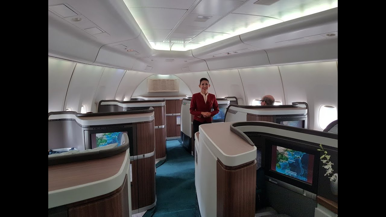 Cathay pacific cx543 b747 400 first class tokyo haneda to for First cabin haneda