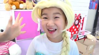 보람이의 엘사 생일파티 놀이 Boram Princess preparing celebrating Happy Birthday
