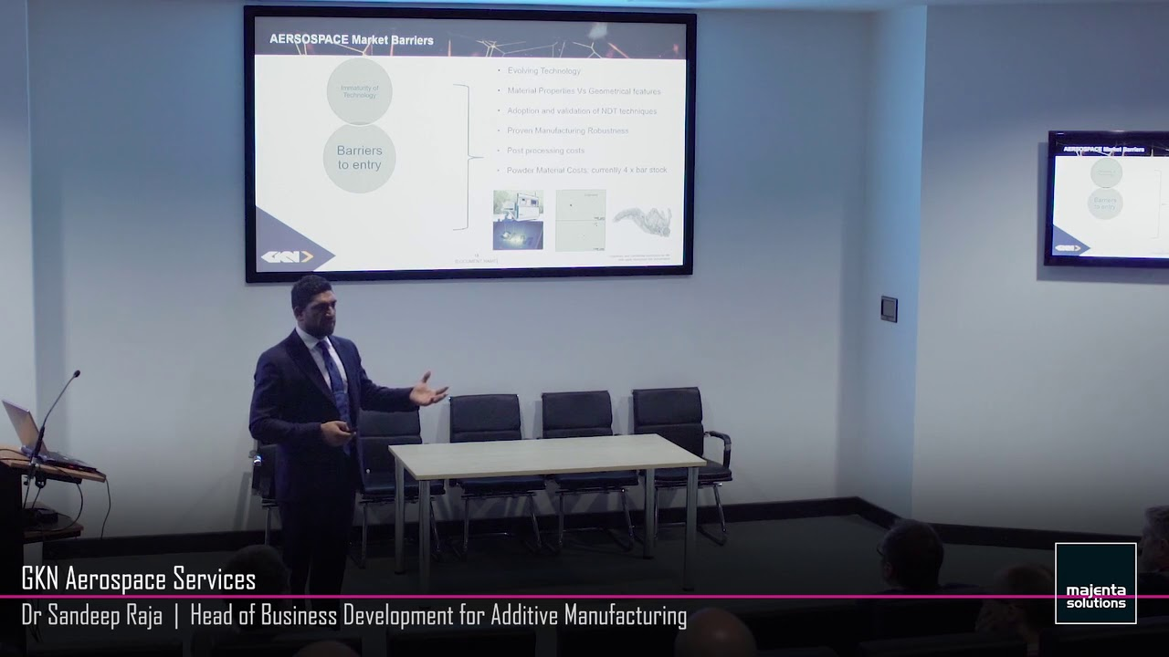 Leading Industry Insight Sandeep Raja, Head of Business Development for GKN Additive Manufacturing